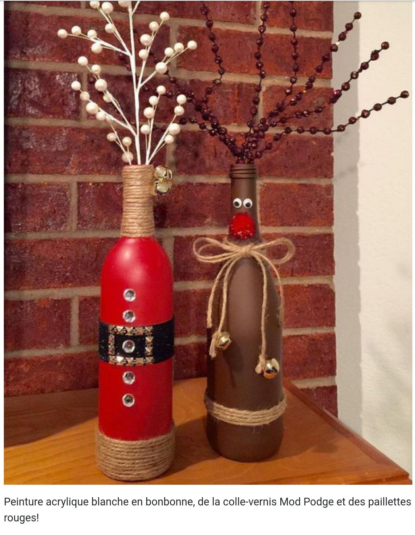 Pin By Erin Landry On Crafts Christmas Wine Bottles Christmas Decor Diy Christmas Wine