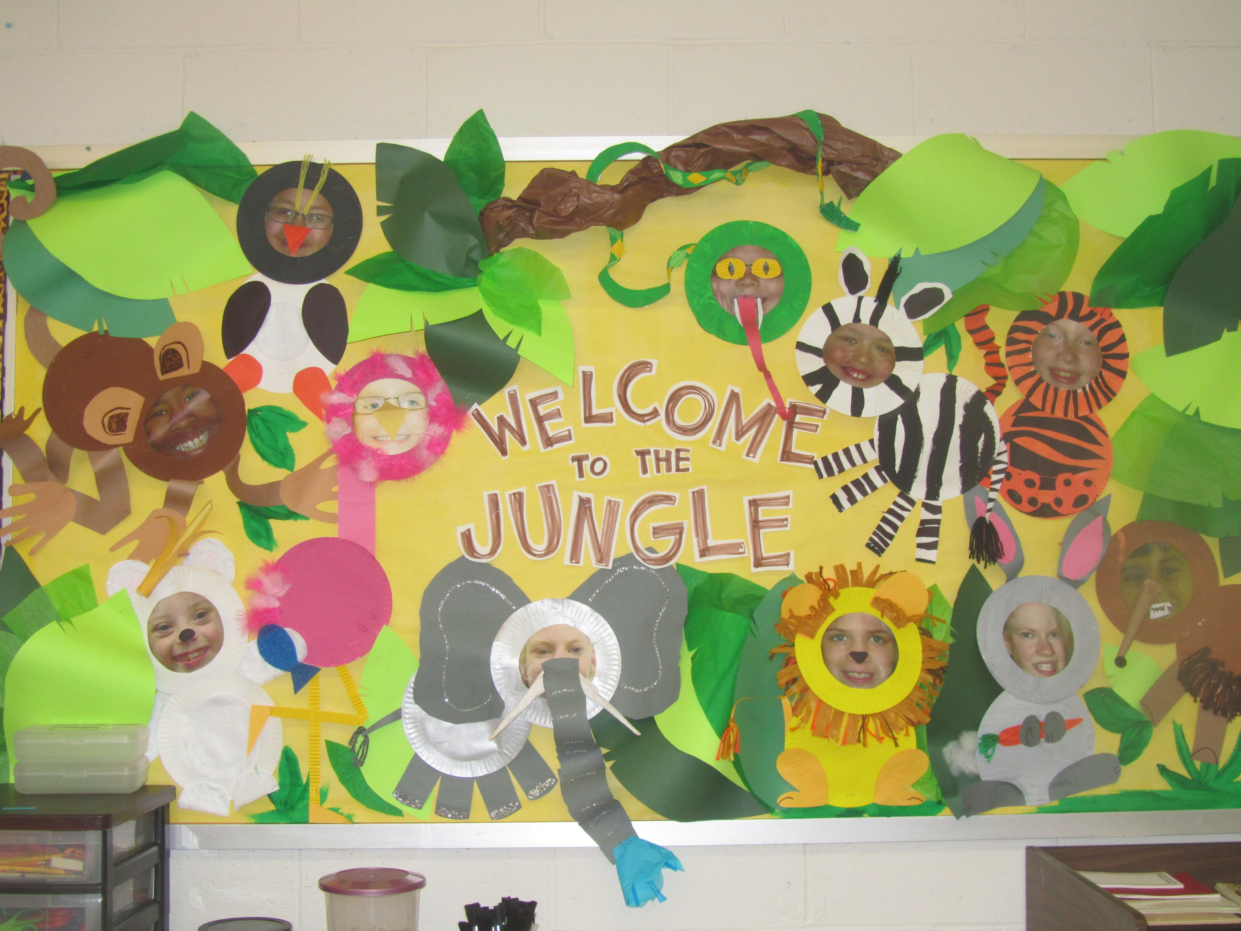 Welcome To The Jungle Board Made Out Of Student Work