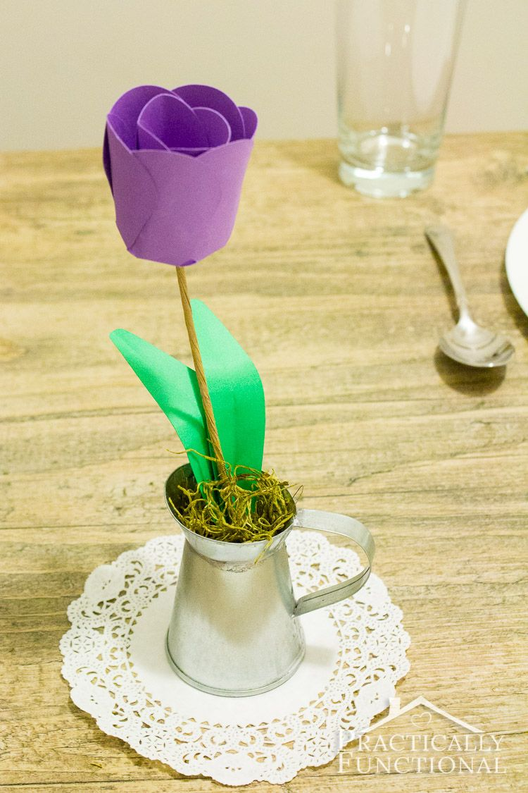 How To Make Paper Flowers 3d Paper Tulips 3d Paper Centerpieces