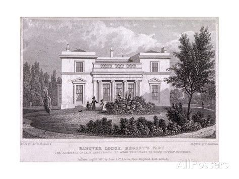 Hanover Lodge, Regent's Park, London. Home of the Cochrane family in the 1830s.