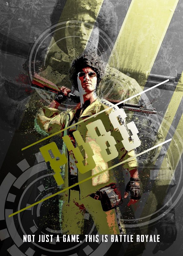 """PUBG Male Female Characters M2 #Displate artwork by artist """"Farki15 Design"""". Part of a…   Displate thumbnail"""