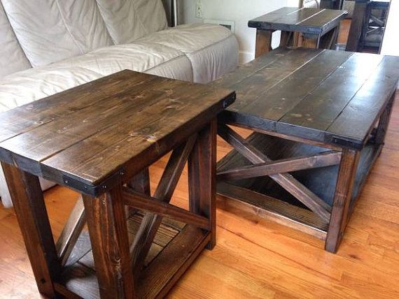 Farmhouse 3 Piece Coffee Table Set New Room Pinterest Table