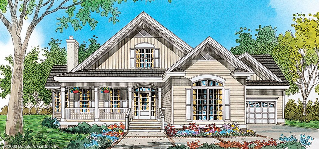 The Crosswinds House Plan - favorite front elevation but