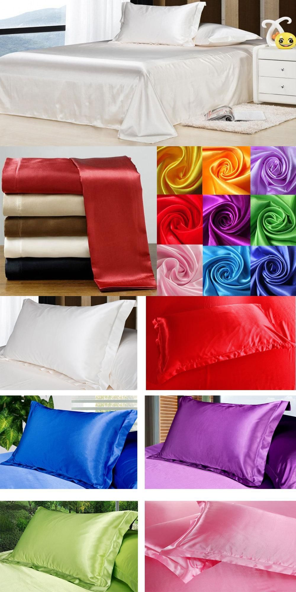Silk Vs Satin Pillowcase Entrancing Wholesale100% Soft Skin Satin Silk Bed Sheet Pillowcases Wedding Inspiration