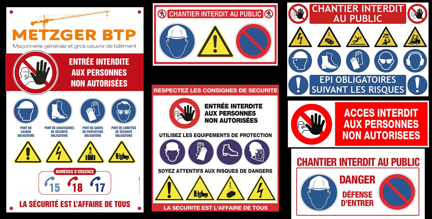 Panneaux De Chantier Travaux Et Securite Obligatoires