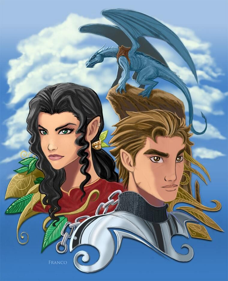 Twitter (July 4): Christopher Paolini: Fan art #35 — Eragon, Arya, and Saphira: pic.twitter.com/Gf5JGgUvht