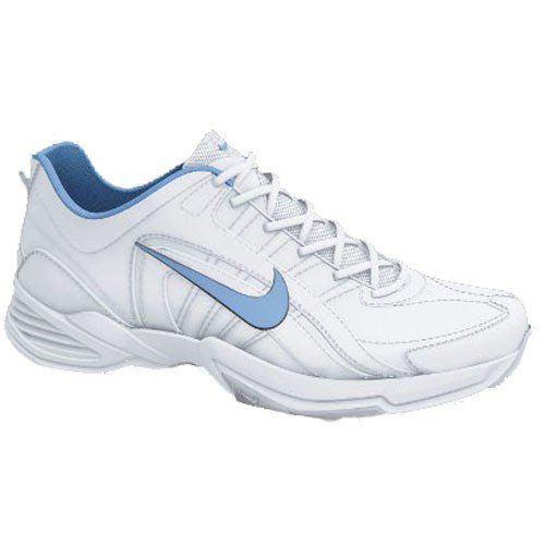Nike Women's Cross Training Shoes T-Lite VIII Leather White / Football Blue-Dark Grey