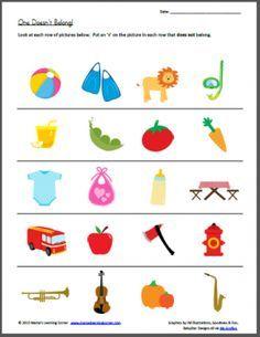 One Doesnt Belong Ganesha Kindergarten Worksheets Preschool