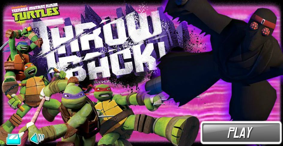 Play Teenage Mutant Ninja Turtles Throw Back Game Online Teenage Mutant Ninja Turtles Online Games For Kids Ninja Turtles