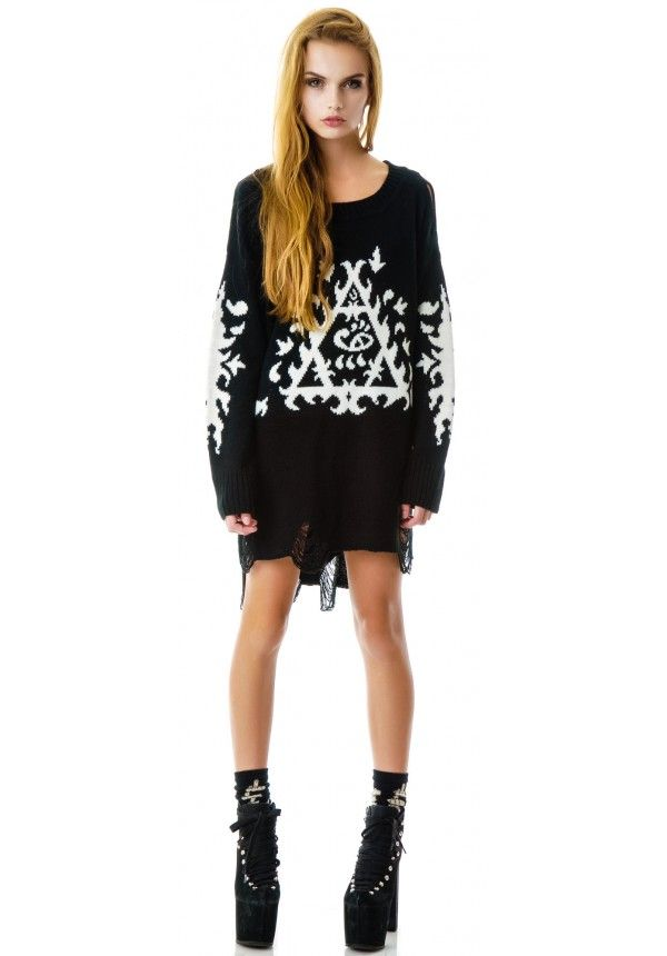 UNIF Ornate Sweater from Dolls Kill $99.00