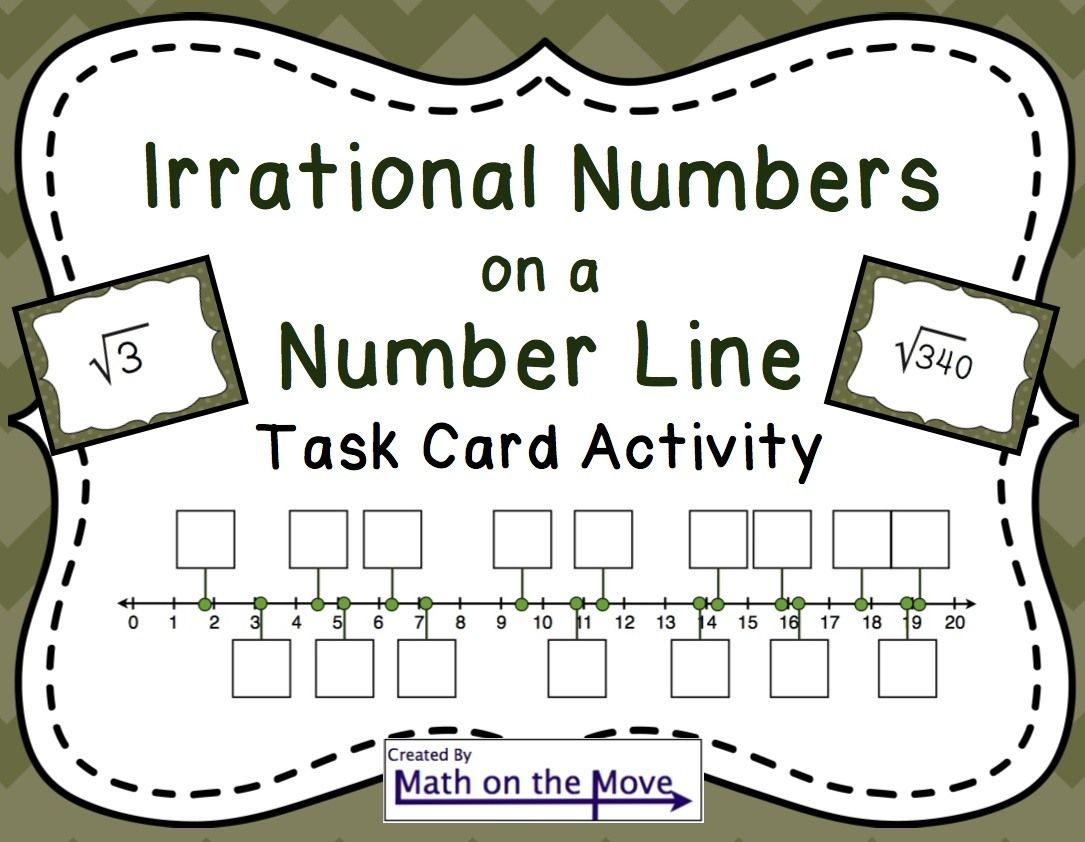 Workbooks perfect square worksheets 8th grade : Estimating Square Roots on a Number Line - Task Card Activity (8 ...