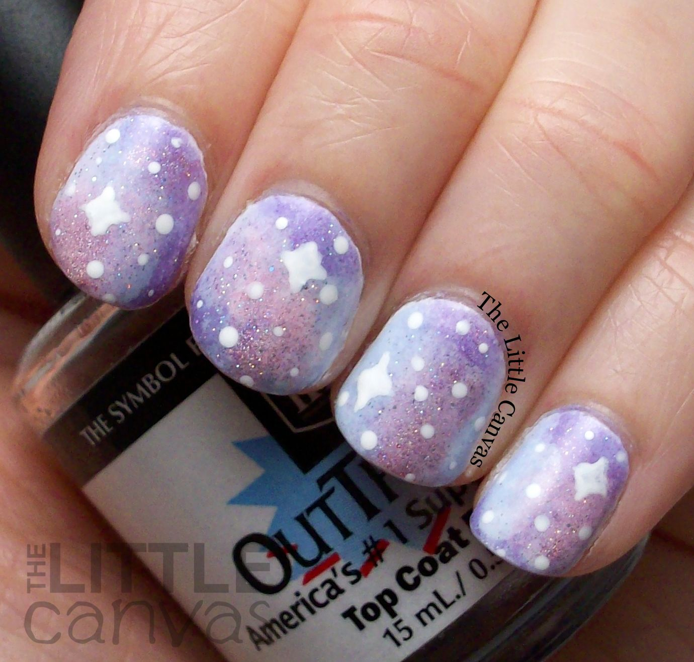 Pastel Galaxy Nail Art By The Little Canvas Nails Pinterest