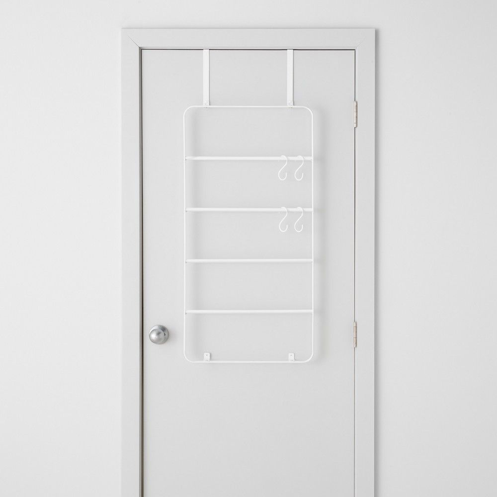 Over The Door Garment Rack With Accessories White Made By Design