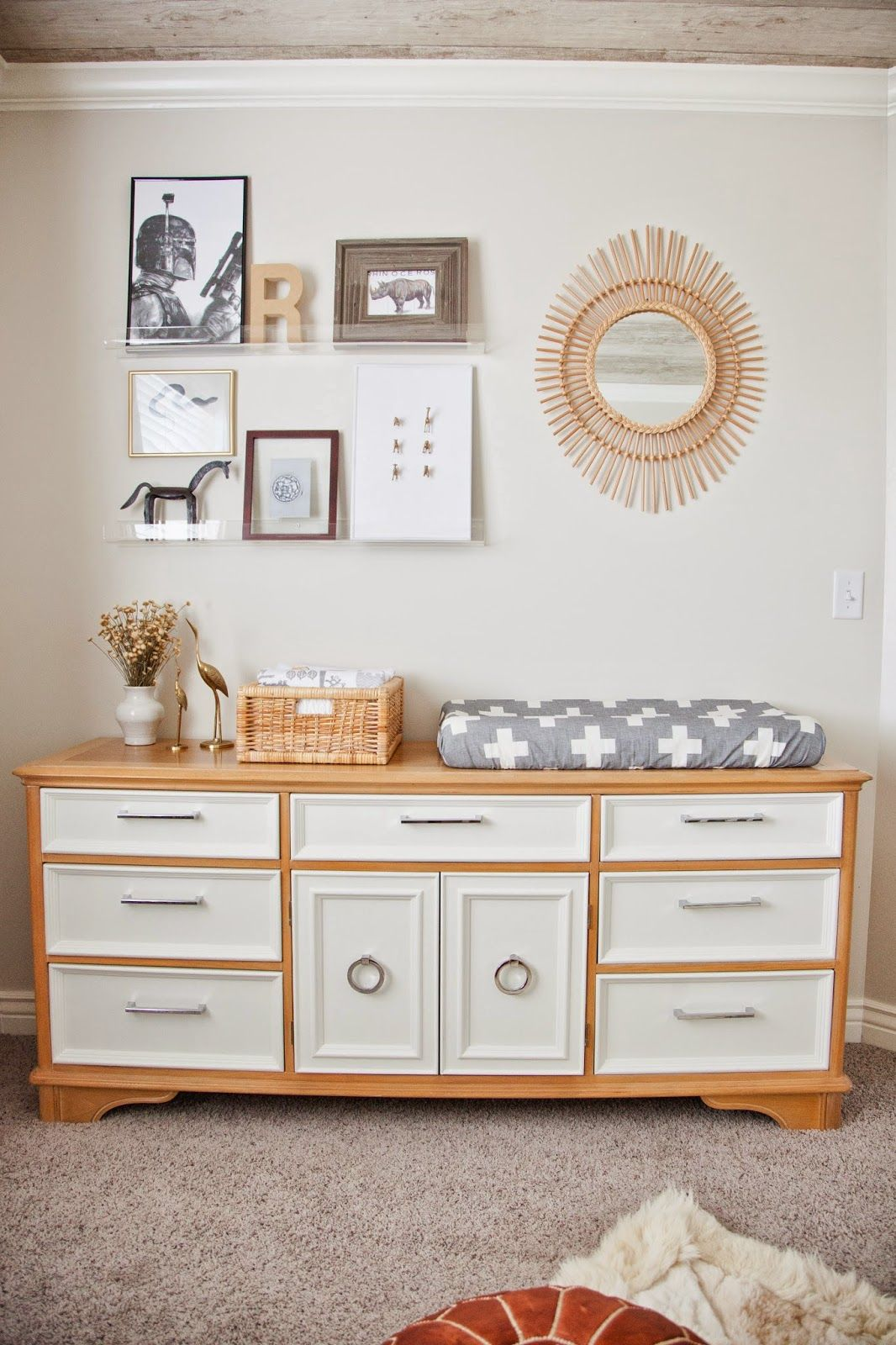 neutral, masculine nursery reveal | Country baby rooms ...