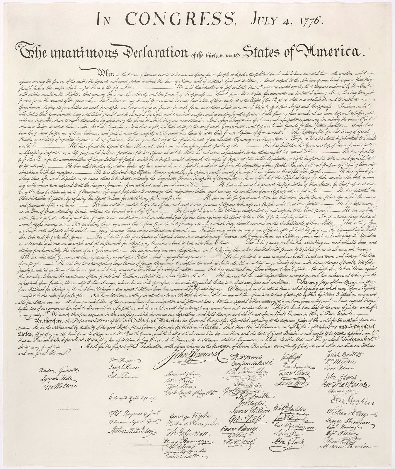 Declaration Of Independence Article Reading Level 1