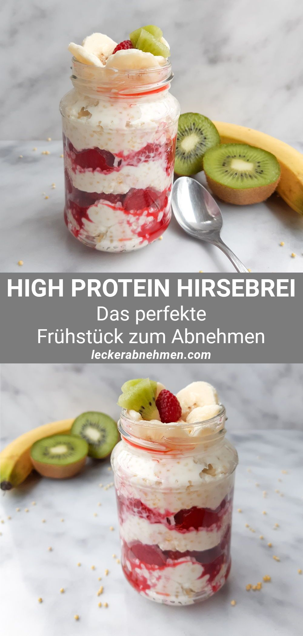 Hirsebrei mit Himbeeren – Leckeres Hirse Frühstück zum Abnehmen