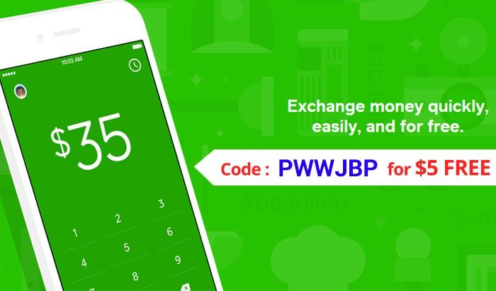 Square Cash Promo : Use coupon PWWJBPP for $5 free cash