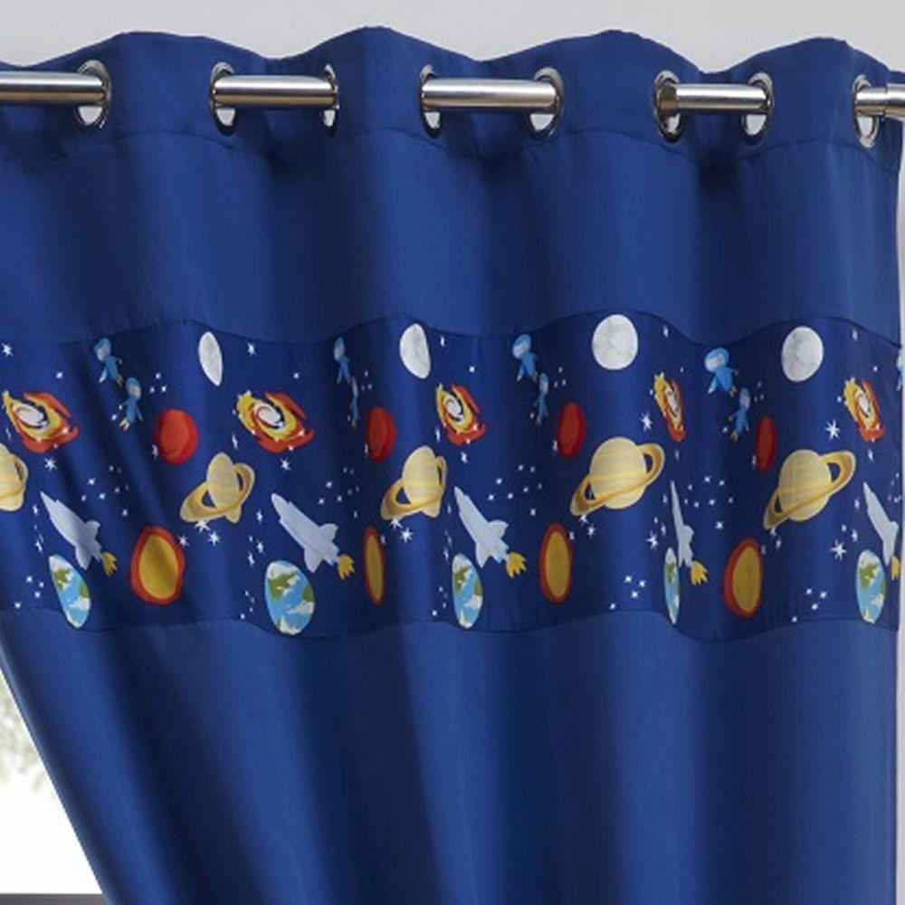 Vorhänge für ein Weltraum Kinderzimmer Kinder