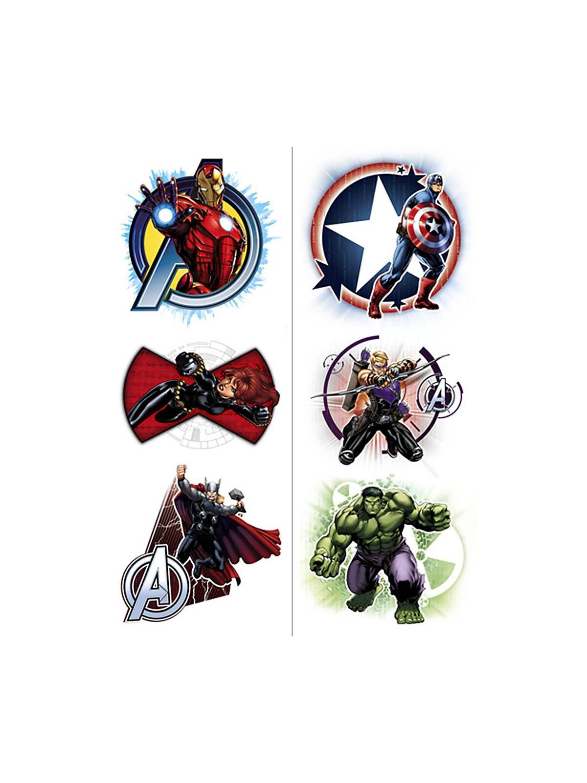 Avengers temporary tattoos 2 pack tatuaggi