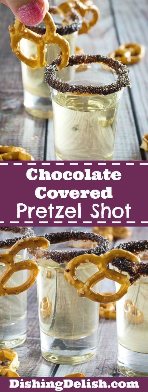 Chocolate Covered Pretzel Shot Pretty Much Has Everything
