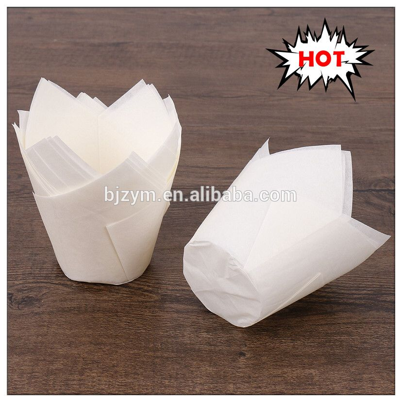 Check Out This Product On Alibaba Com App White Plain Color Greaseproof Paper Tulip Pattern Cupcake Liners Wedding Cupcakes Cupcake Liners Wedding Decorations