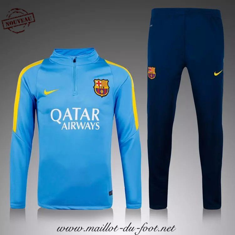 vetement football survetement de foot barcelone bleu 2015 2016 en ligne maillot foot pas cher. Black Bedroom Furniture Sets. Home Design Ideas