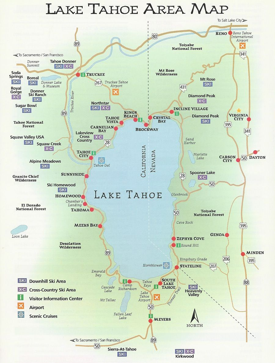 Agate Bay Properties | Area Map | North Lake Tahoe, CA | Not-really ...