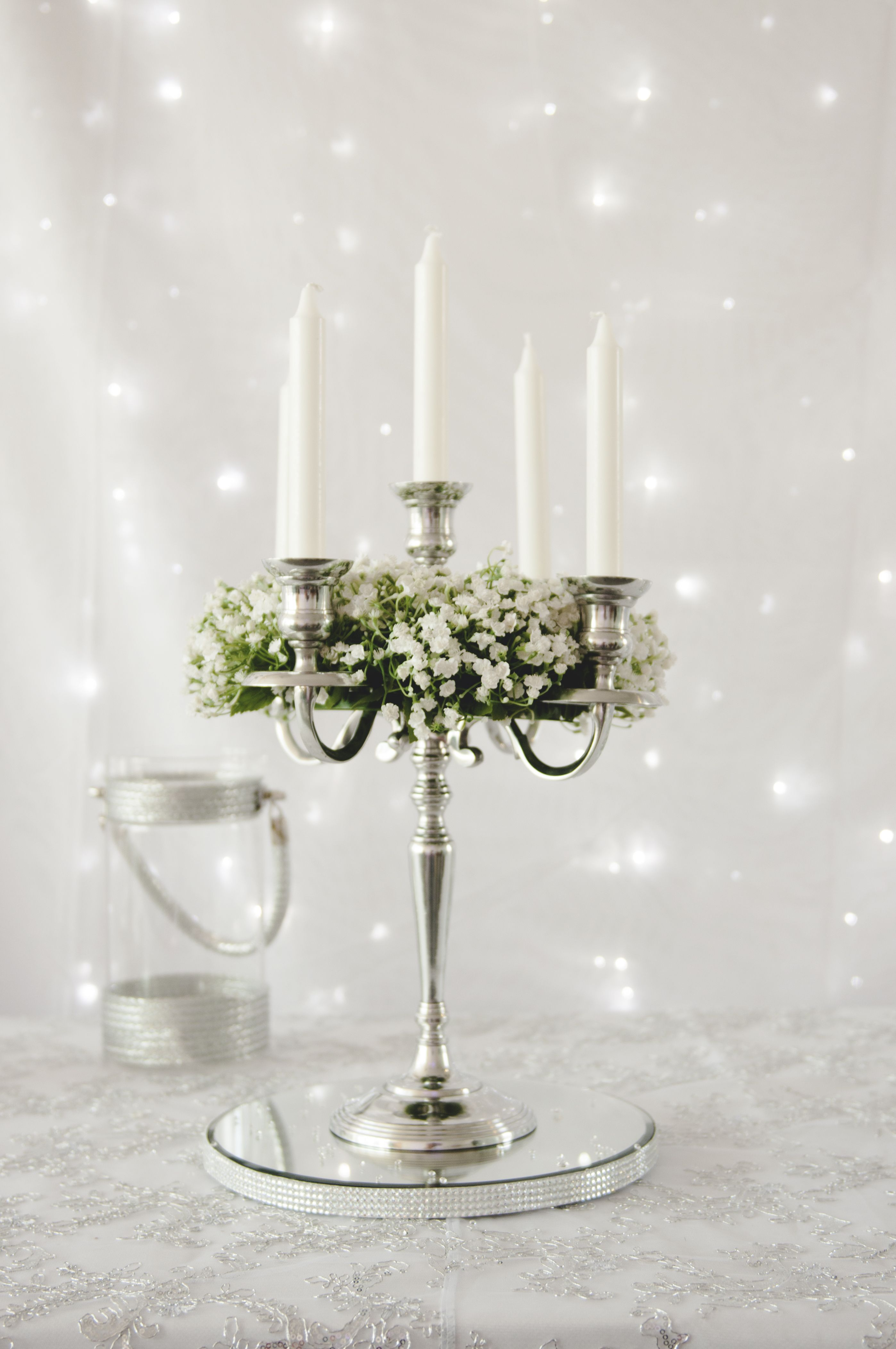 Just one of our many table centrepieces available to hire ...
