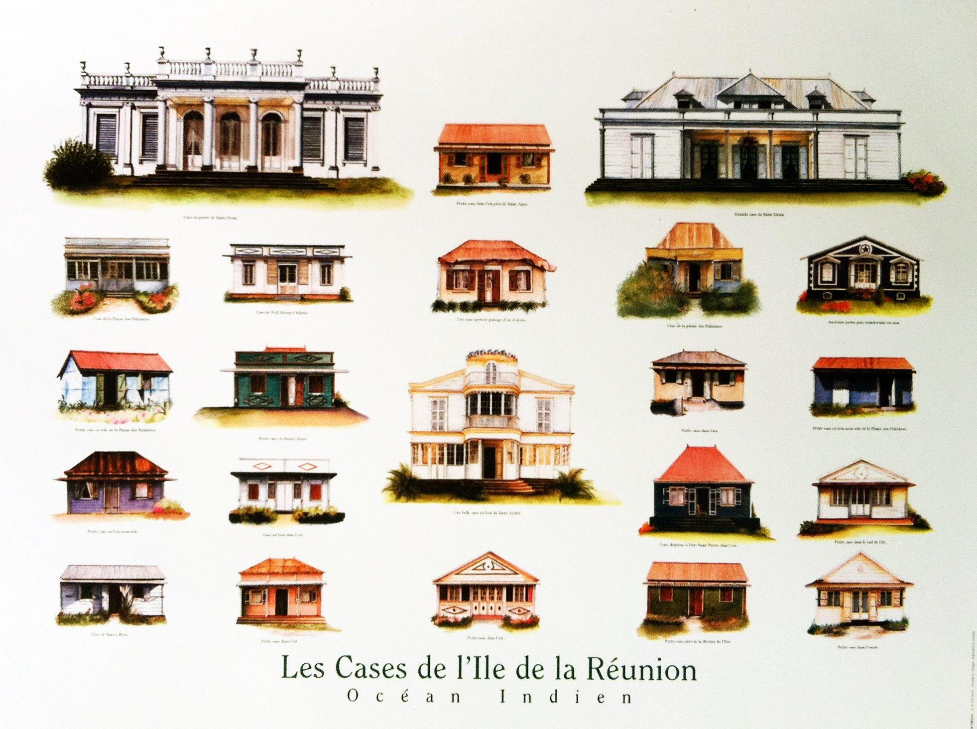Dessin Case Creole La Reunion Recherche Google Maison Creole