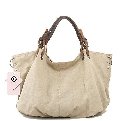 67c91e739147 Tom Clovers Summer New Womens Classy Look Canvas Oversized Vintage Hobo  Simple Style Top Handle Genuine