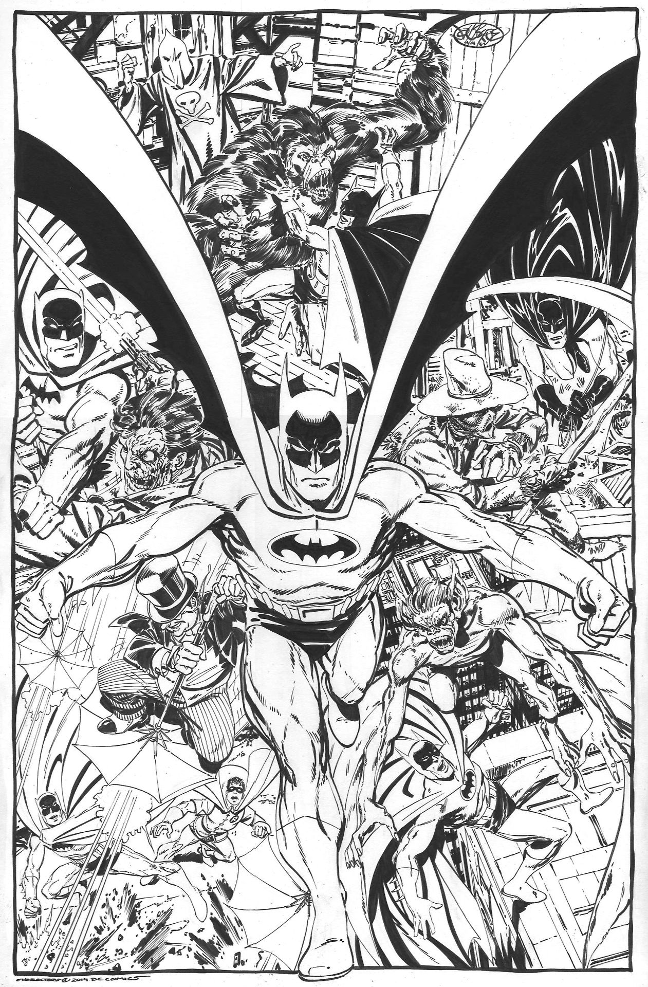 Batman montage commission by John Byrne. 2014.