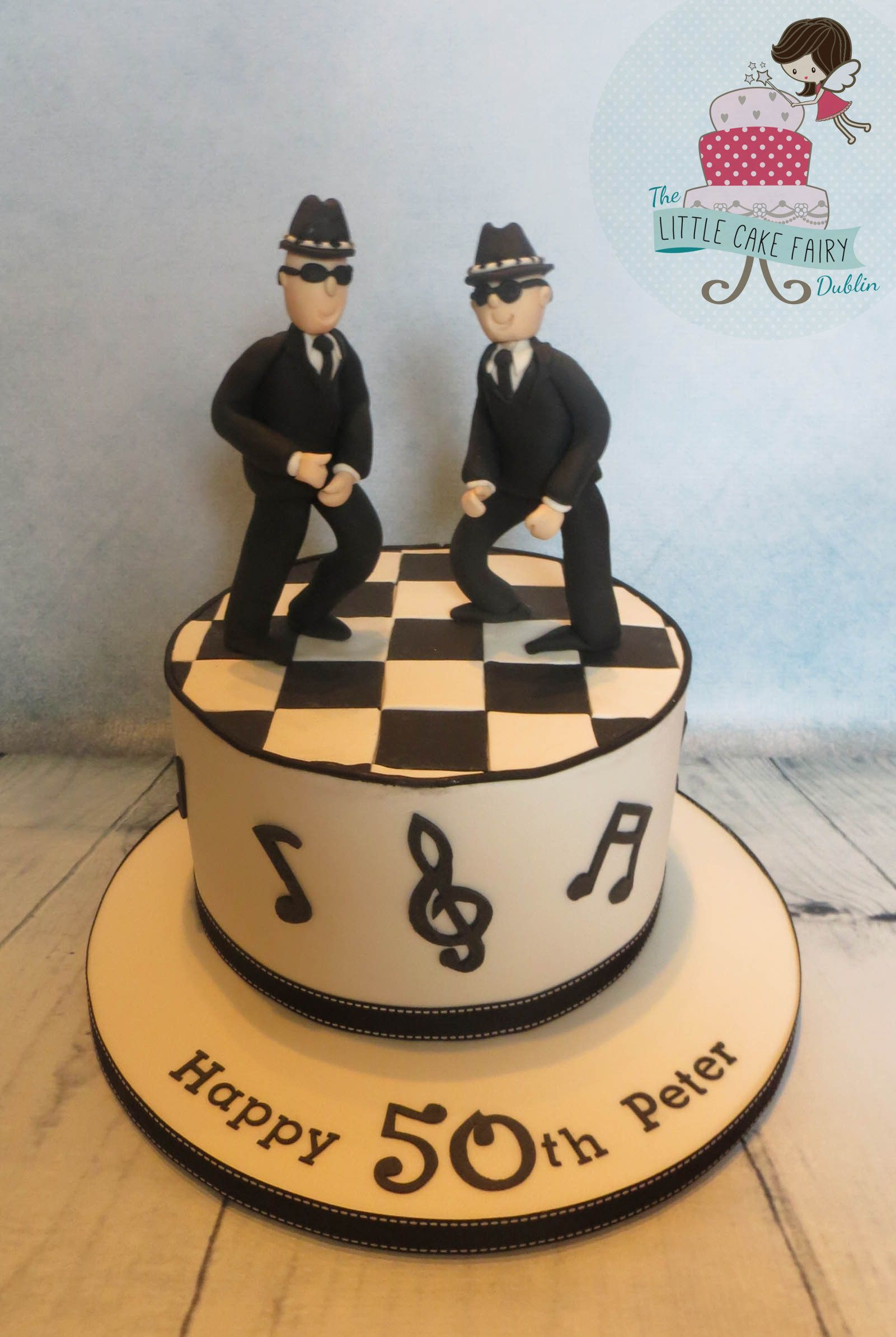 Ska Music/Blues Brothers Inspired 50th Birthday Cake www