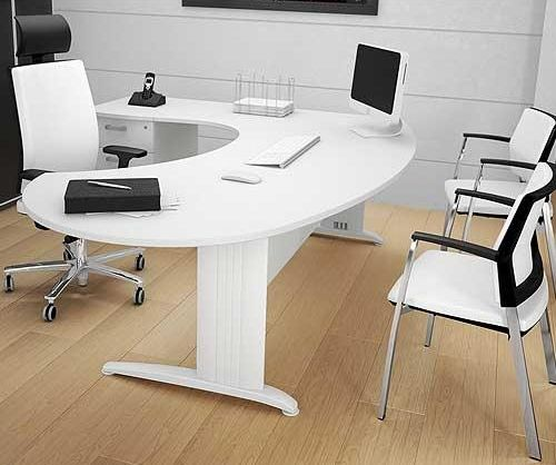 white executive desk   Google Search   Curved office desk ...