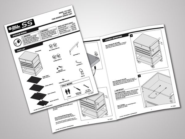 Technical User Manuals and Illustrations on Behance visual design