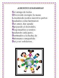 Resultado De Imagen Para Acrostico De Solidaridad How To Plan Frame Language