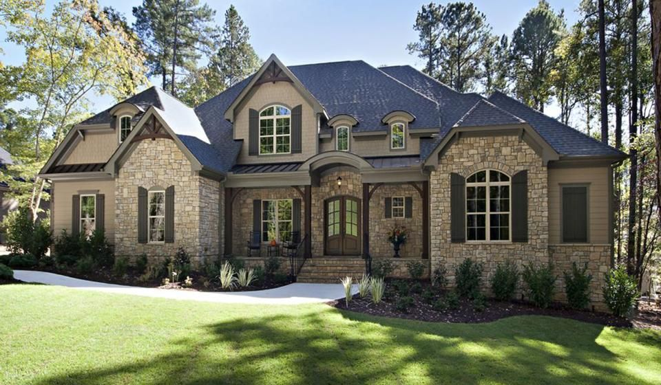 Stone Exteriors For Homes stone exterior and dark wood shutters | normandy | pinterest