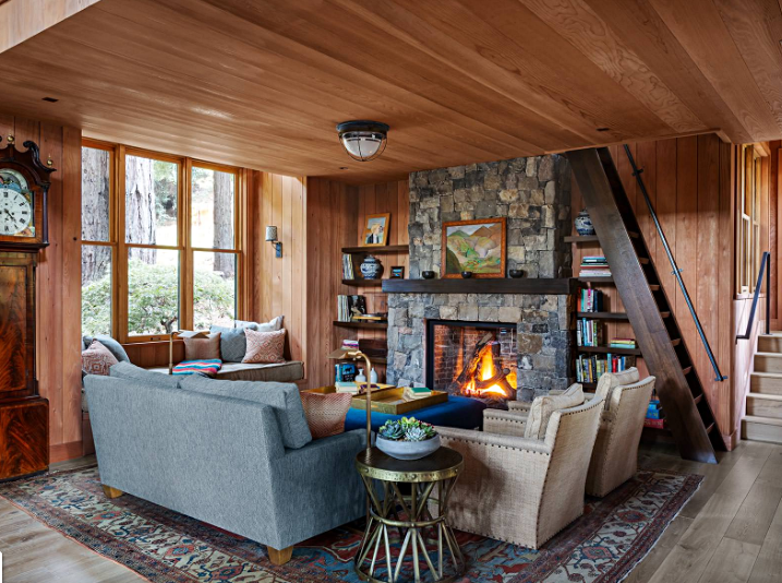 Rustic Cabin In The Woods Town Country Living Cabin Living Room Cabin Interiors Cabin Living