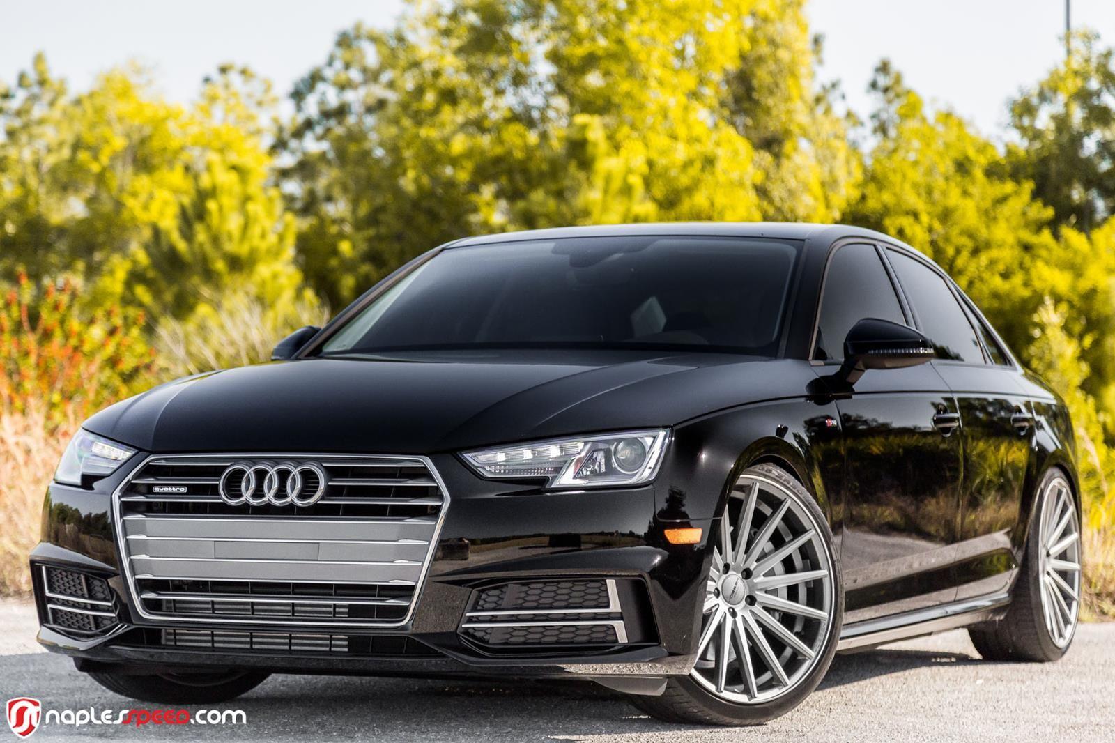 2017 Audi A4 Hunkers Down On 20 Custom Wheels Carscoops Car Wheels Rims Car Wheels Car Wheels Diy