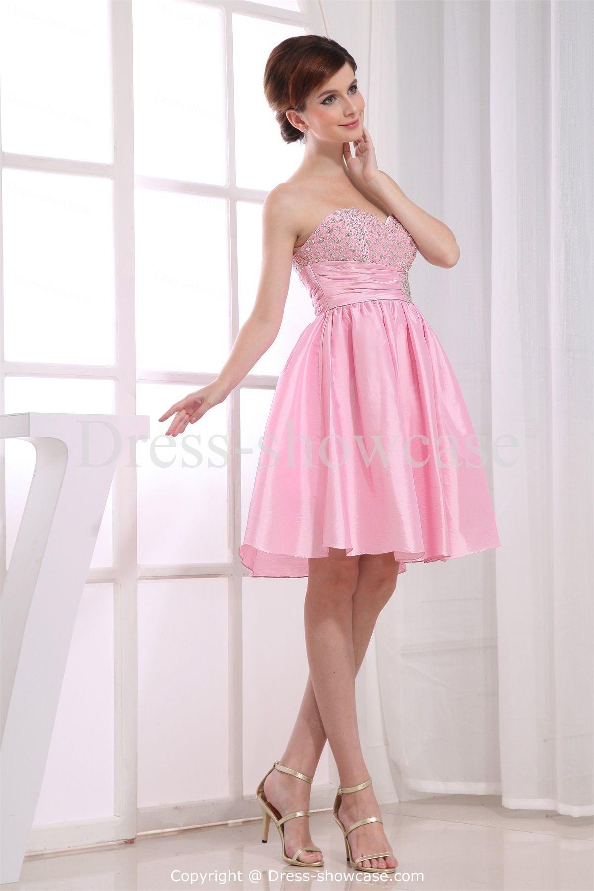 Pink Mini Taffeta Sweetheart Sweet 16 DressWholesale Price: US ...
