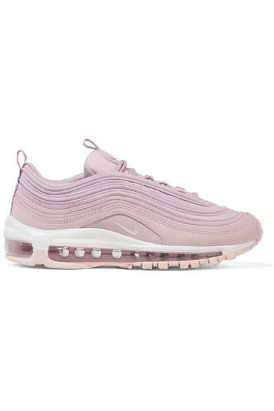 Lilac Air Max 97 Leather Suede And Mesh Sneakers Nike Nike Air Max 97 Nike Air Max Sneakers