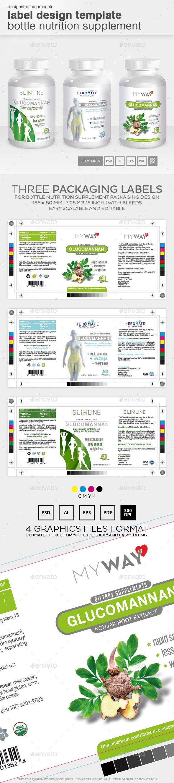 Label Design Template Bottle Nutrition Supplement | Ideas para ...