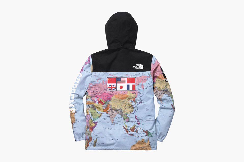 chaqueta mapamundi the north face x supreme