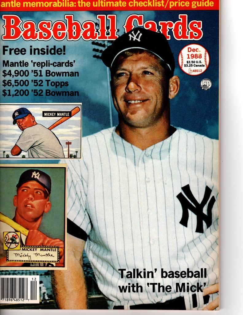 Baseball Card Magazine Special Mickey Mantle Issue