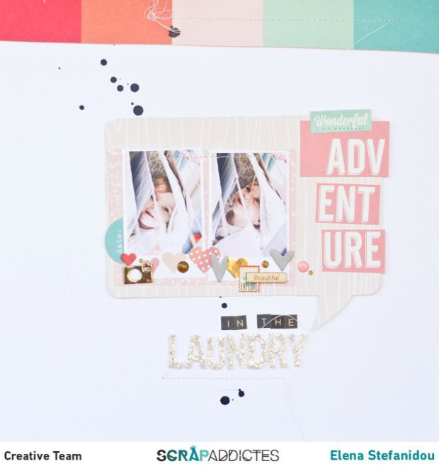 #papercraft #scrapbook #layout. Adventure in the laundry layout by Elena