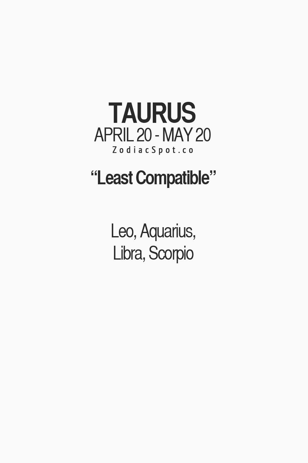 Least compatible with scorpio