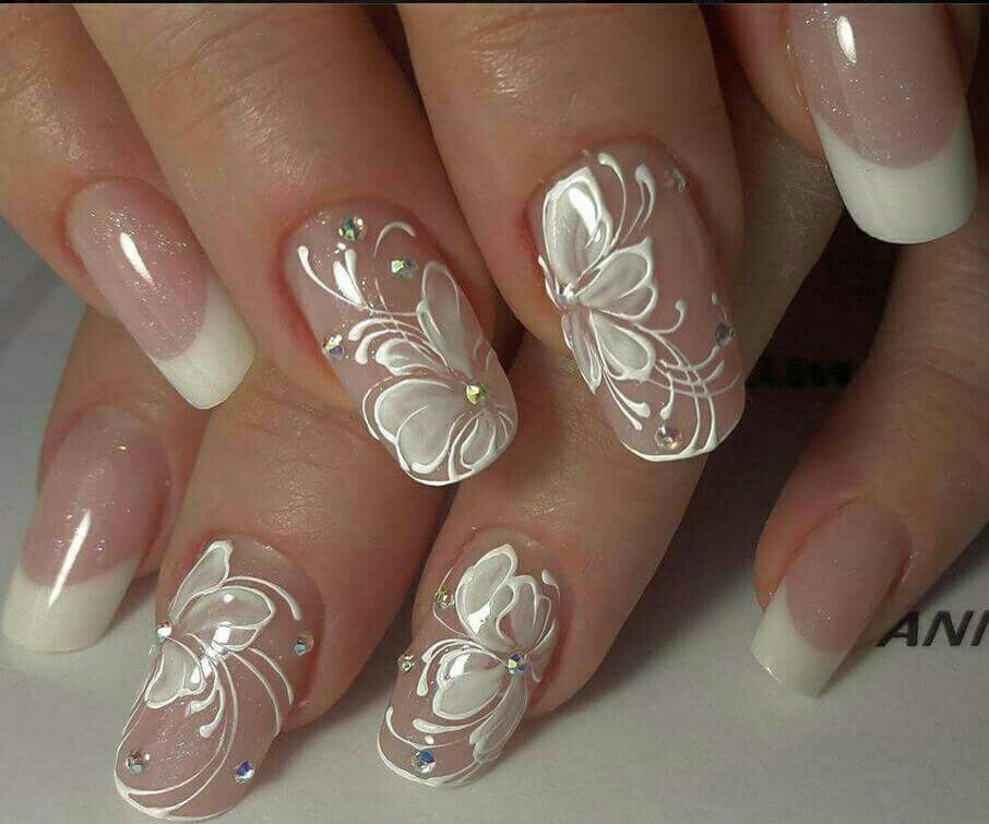 70 Top Bridal Nails Art Designs for next year - Cute Wedding Ideas - Pin By Rebecca Shoemaker On Hair & Nails Pinterest French