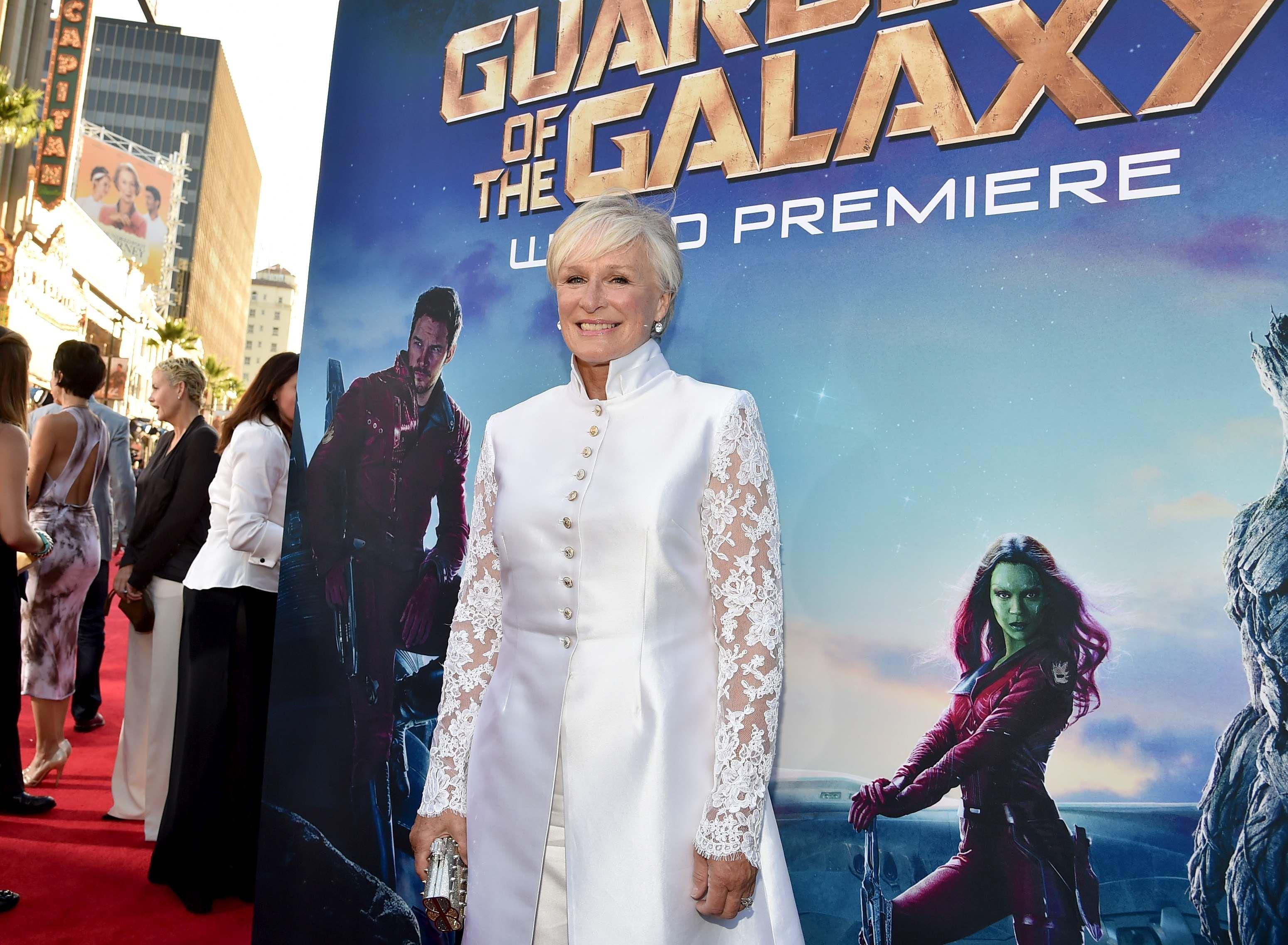 Glenn Close Nova Prime At The World Premiere Of Marvel S Gua