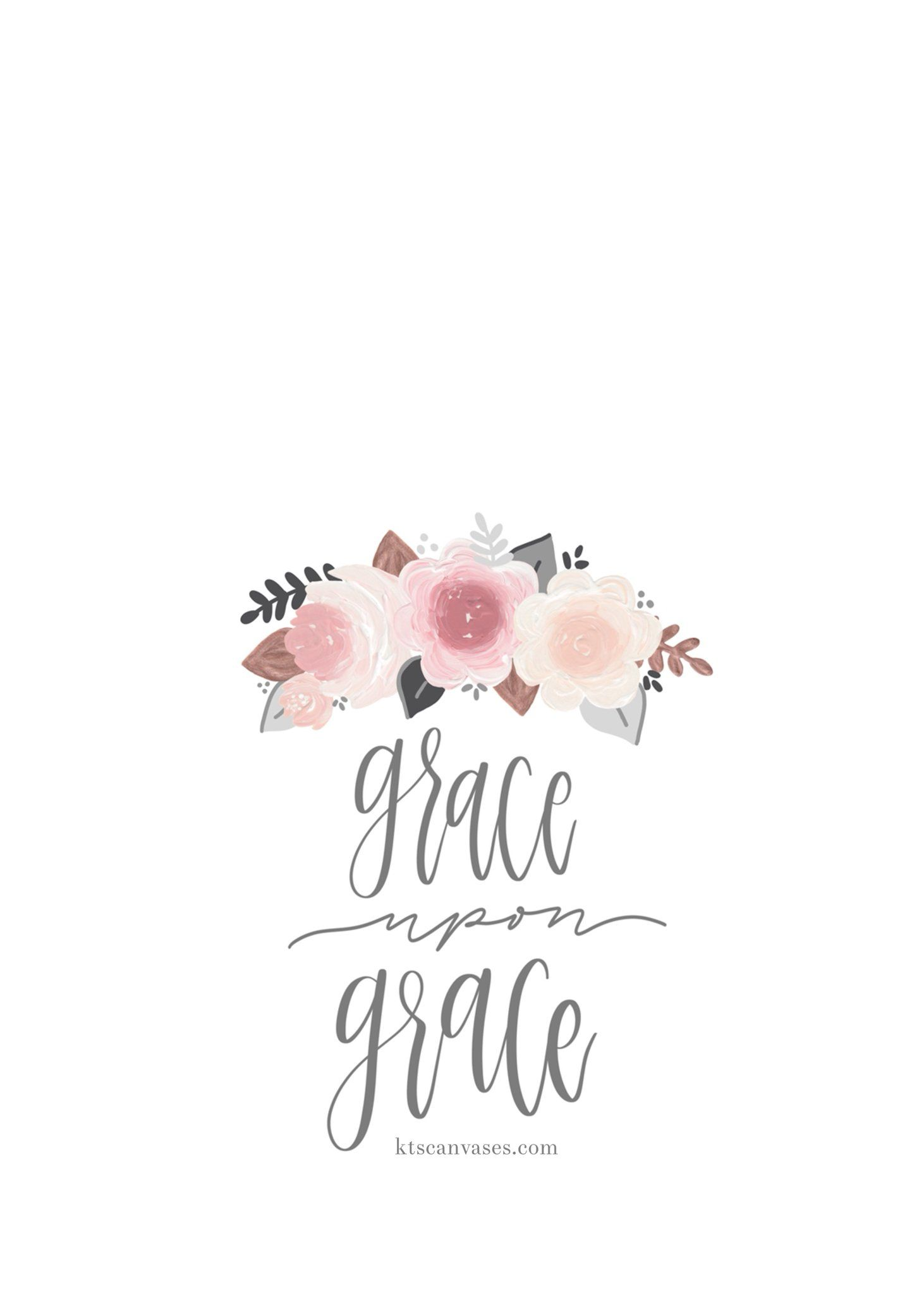 Grace Upon Grace Wallpaper 水彩 花 水彩 影