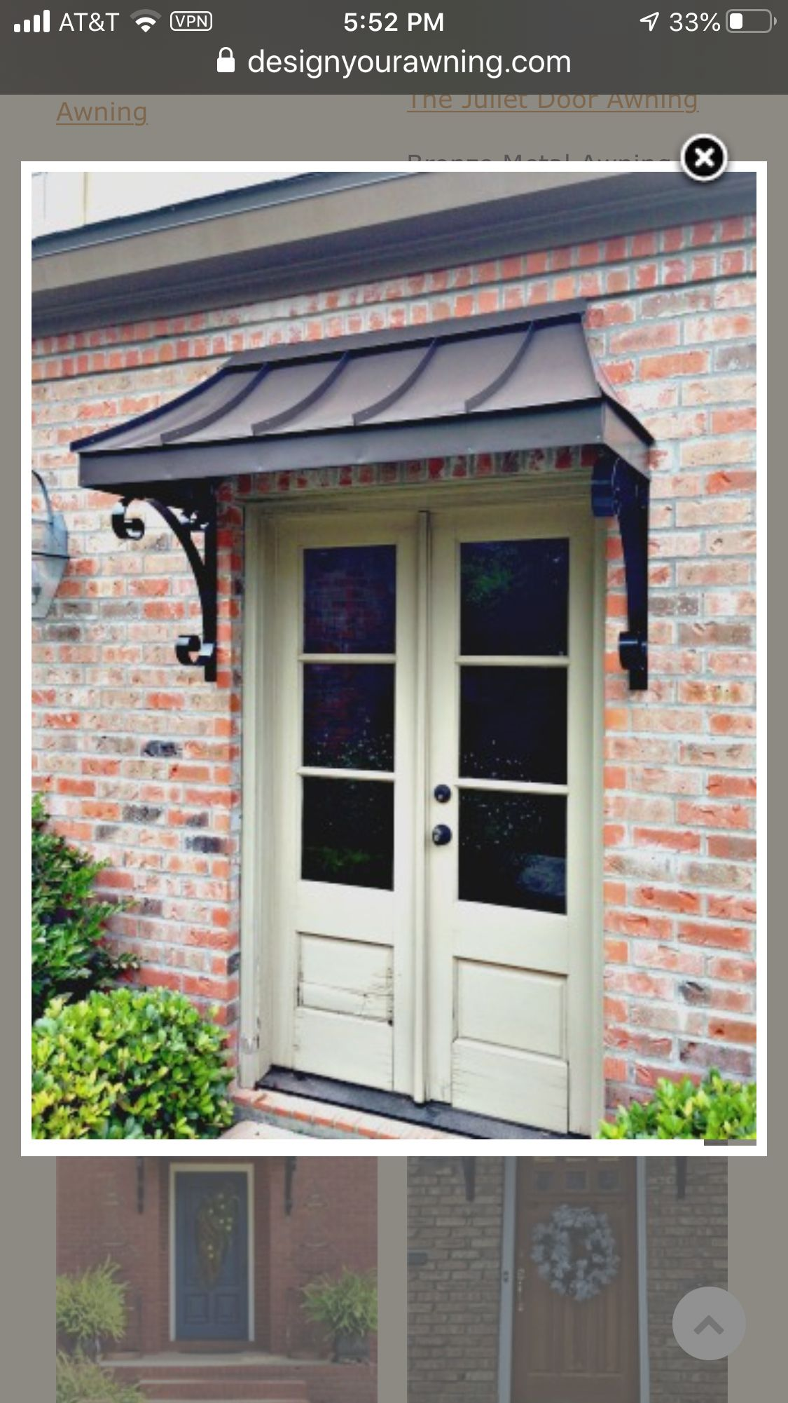 Pin By Susan Scott Nowak On Sunroom In 2020 Front Door Awning Metal Awning Copper Awning