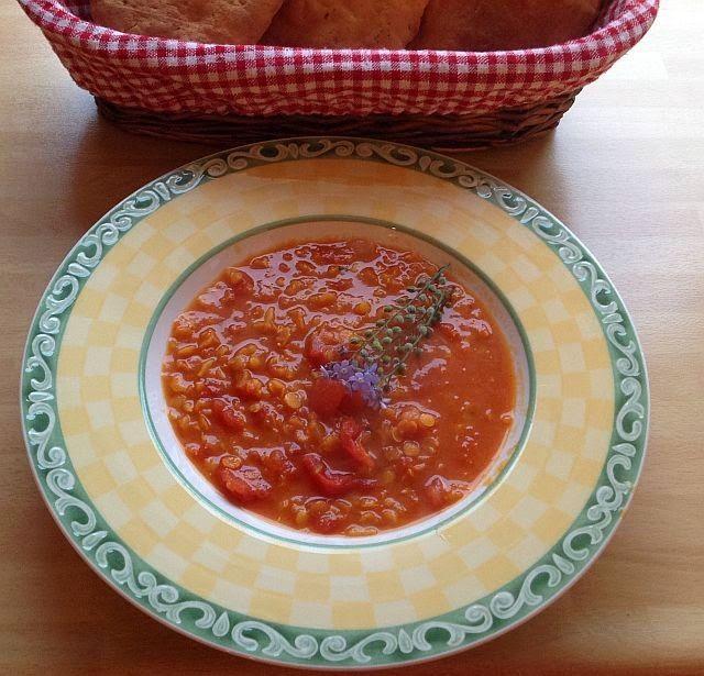 Die Vegankocherin: Dhal-Suppe mit roten Linsen